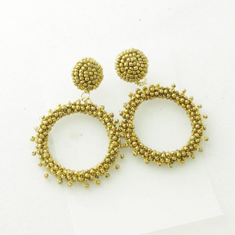 Gold Drop Circle Statement Earrings Buy Online UK
