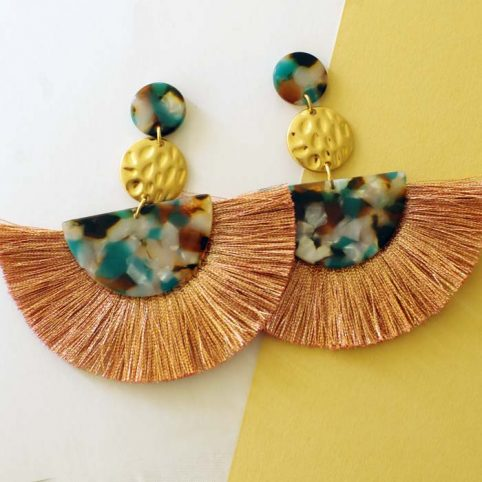 Resin and Tassel Statement Earrings Tell Your Tale