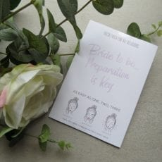 Bride To Be - Face Mask Sheet