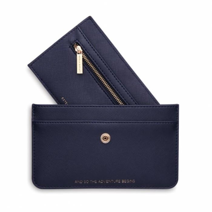 Estella Bartlett Navy Blue Travel Wallet