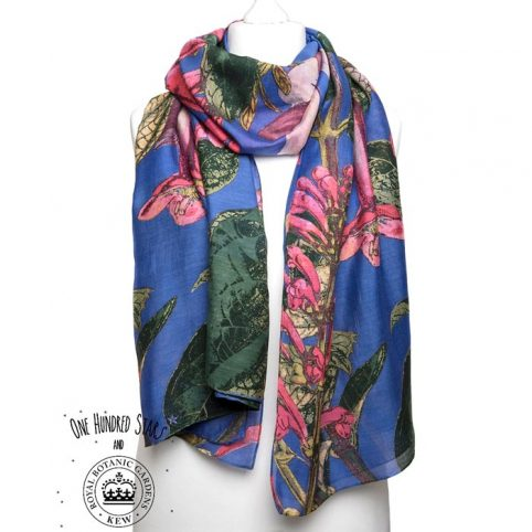 Purple Magnolia Floral Scarf - Buy Online UK
