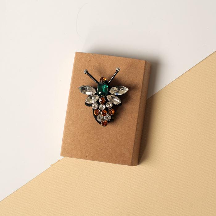 Sixton Diamante Bee Brooch - Buy Online UK