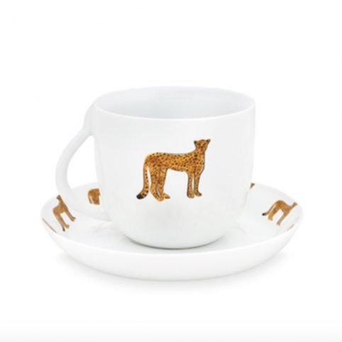 Fabienne Chapot Cheetah Cup and Saucer - Buy Online UK