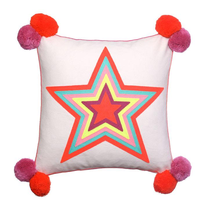 Star Pom Pom Cushion