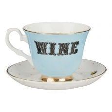 Yvonne Ellen Wine Cup and Saucer - Buy Online UK