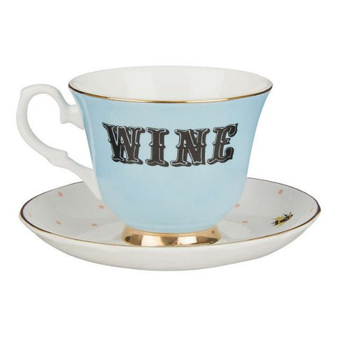 Yvonne Ellen Wine Cup and Saucer - Buy Online UK