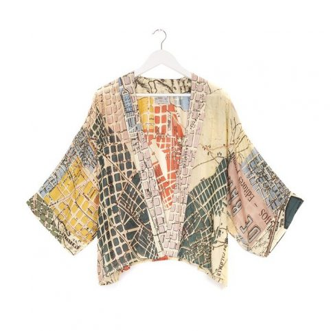 One Hundred Stars Barcelona Map Kimono