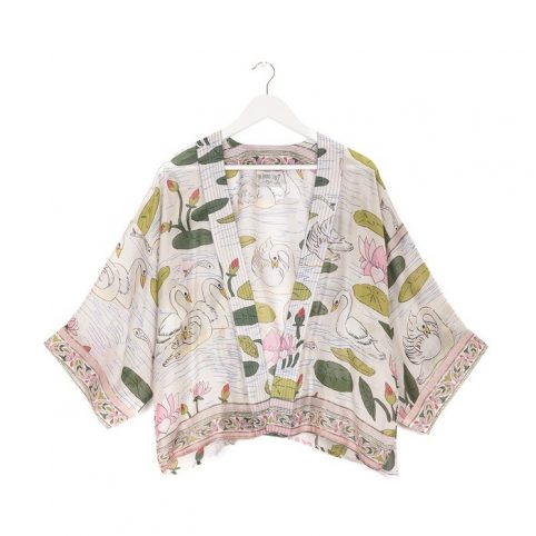 One Hundred Stars Swan Pink Kimono