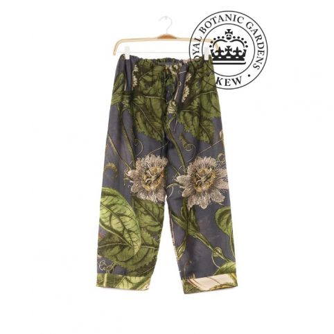 One Hundred Stars Kew Passion Flower Grey Pants