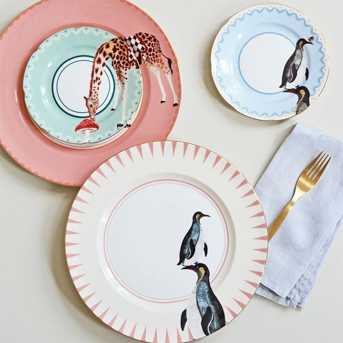 Yvonne Ellen Carnival Animal Plates - Buy Online UK