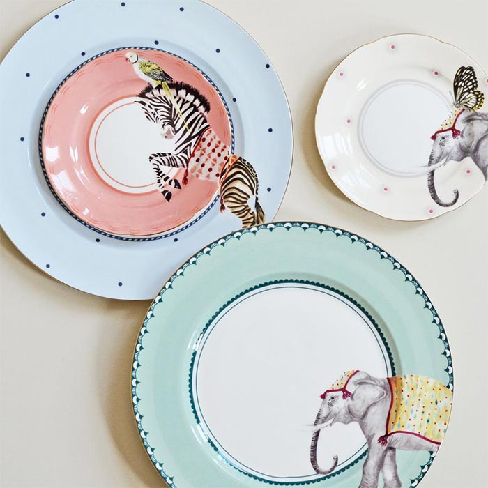 Yvonne Ellen Carnival Dinner Plates - Buy Online UK