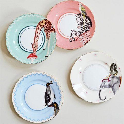 Animal Side Plates Yvonne Ellen