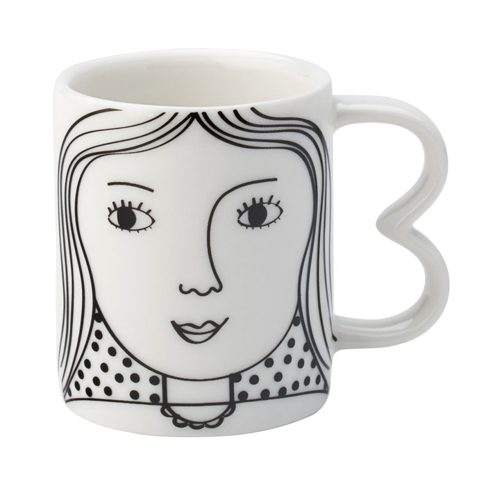 Printed Face Espresso Cup - Buy Online UK