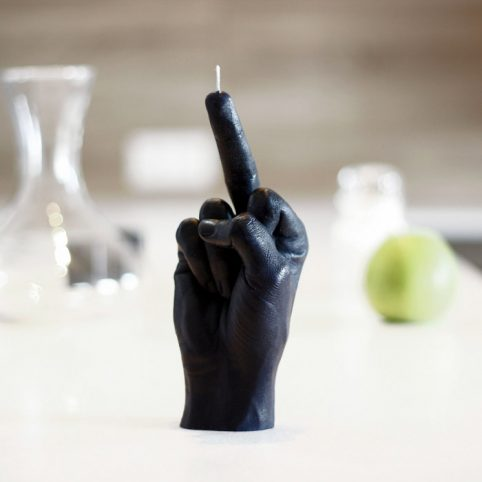 Fcuk You Black hand candle - Buy Online UK