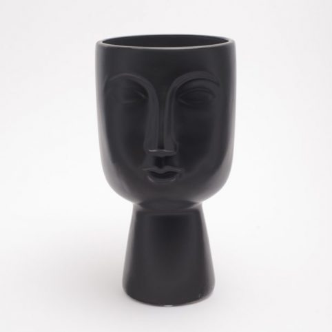 Temerity Jones Pagan Face Ceramic Planter - Black Buy Online UK