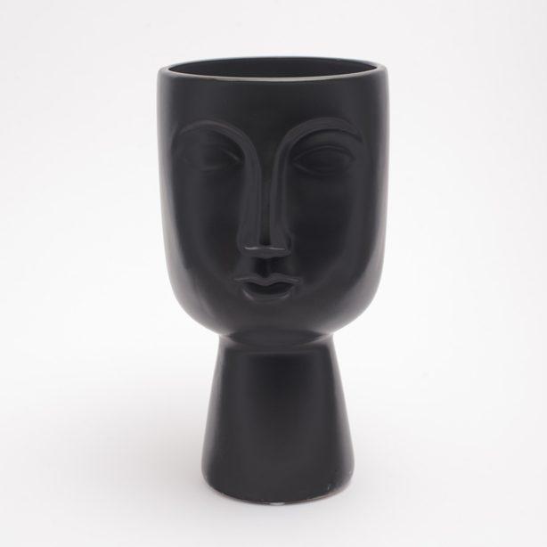 Temerity Jones Pagan Face Ceramic Planter - Black Buy Online UK