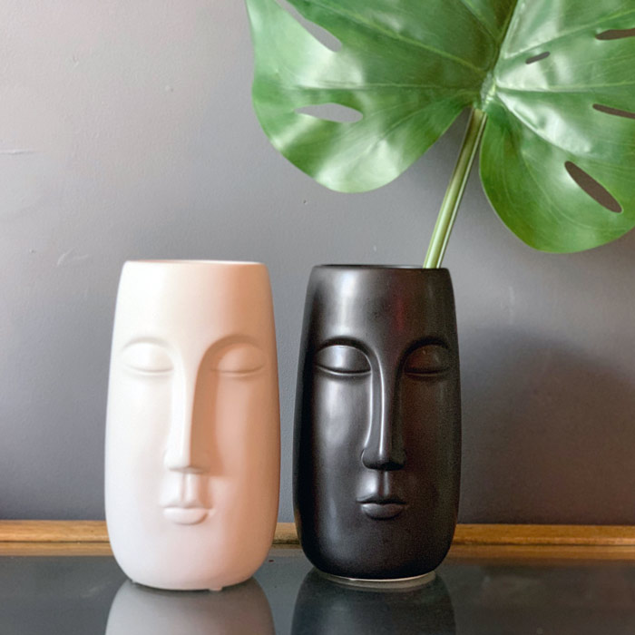 Ceramic Face Vases - Buy Online UK