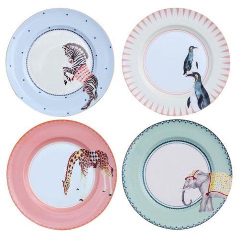 Yvonne Ellen Animal Dinner Plates - Sale Online UK