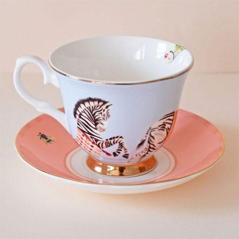 Carnival Zebra Teacup & Saucer