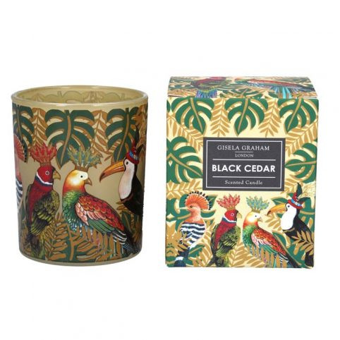 Gisela Graham Black Cedar Candle - Buy Online UK