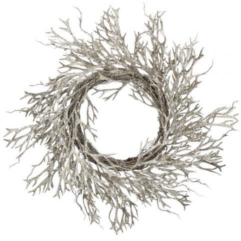 Gold Glitter Christmas Twig Wreath - Buy Online UK