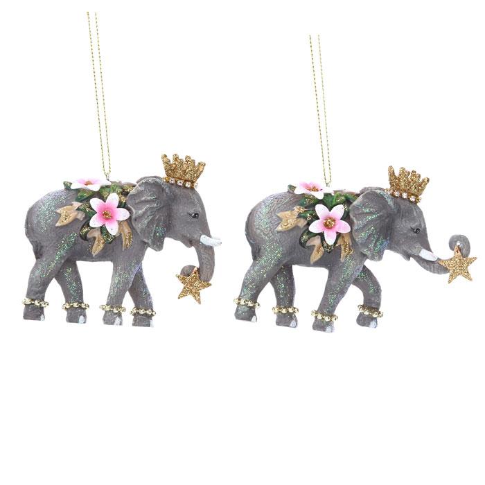 Elephant Christmas Baubles - Buy Online UK