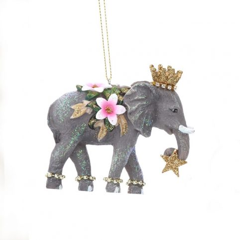 Gisela Graham Elephant Christmas Tree Decoration - Buy Online UK