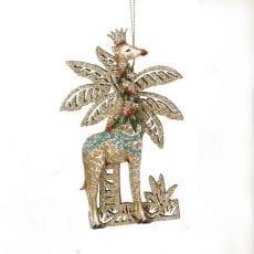 Christmas Decoration Gisela Graham Giraffe - Buy Online UK