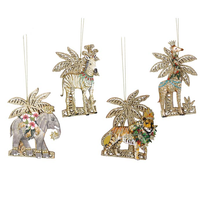 Gisela Graham Wooden Animal Christmas Decorations - Buy Online UK