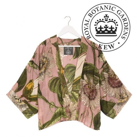One Hundred Stars Kew Passion Flower Pink Kimono - For Sale Online