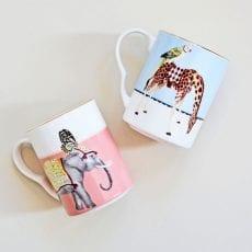 Giraffe & Elephant Set of 2 Yvonne Ellen Mugs - Buy Online UK