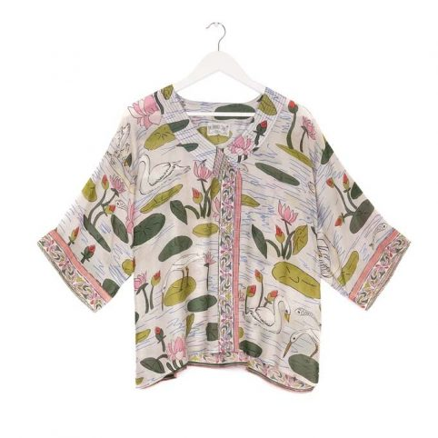 One Hundred Stars Swan Pink Top - Buy Online UK