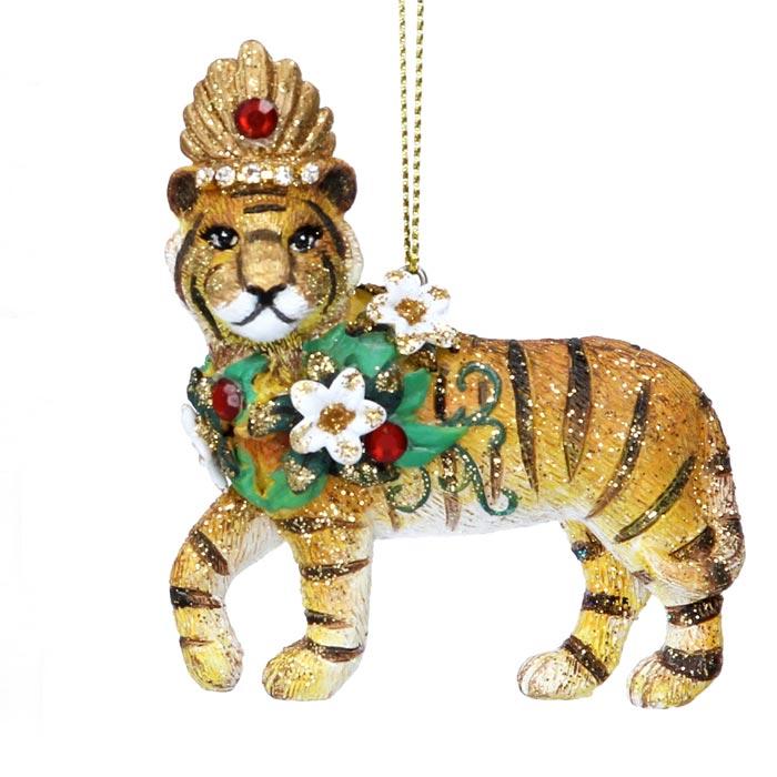 Gisela Graham Tiger Christmas Tree Decoration - Buy Online UK