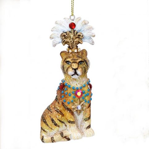 Gisela Graham Tiger Christmas Bauble - Buy Online UK