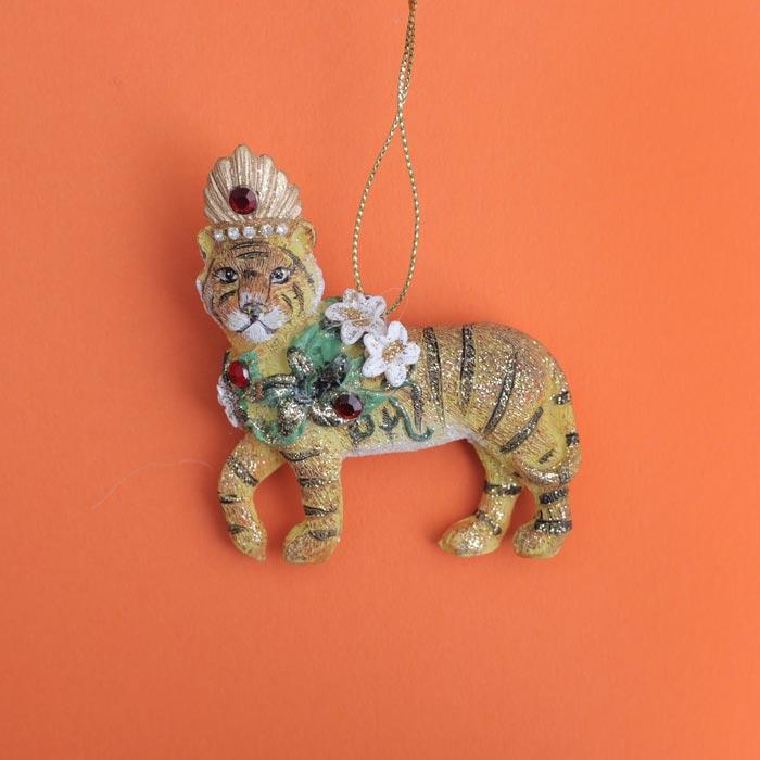 Tiger Christmas Bauble - Buy Online UK