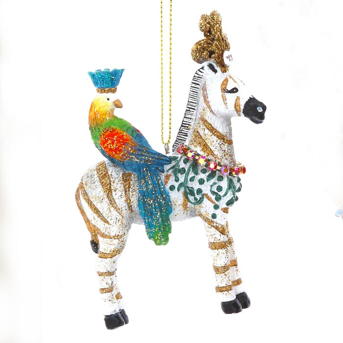 Gisela Graham Zebra Christmas Decoration - Buy Online UK