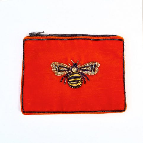 Small Velvet Bee Purse - Buy Online UK