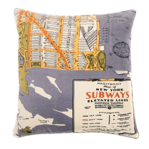 one hundred stars new york map print cushion - Buy Online UK