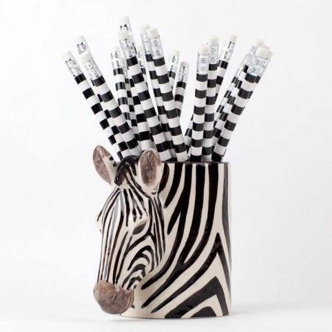 Quail Ceramics Pen Pot Zebra