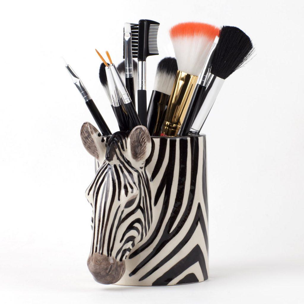 Ceramic Pen Pot Zebra Design - Buy online UK