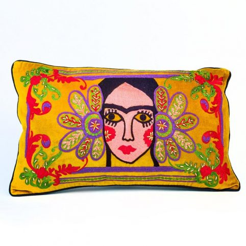 Geisha Multicoloured Beaded Cushion