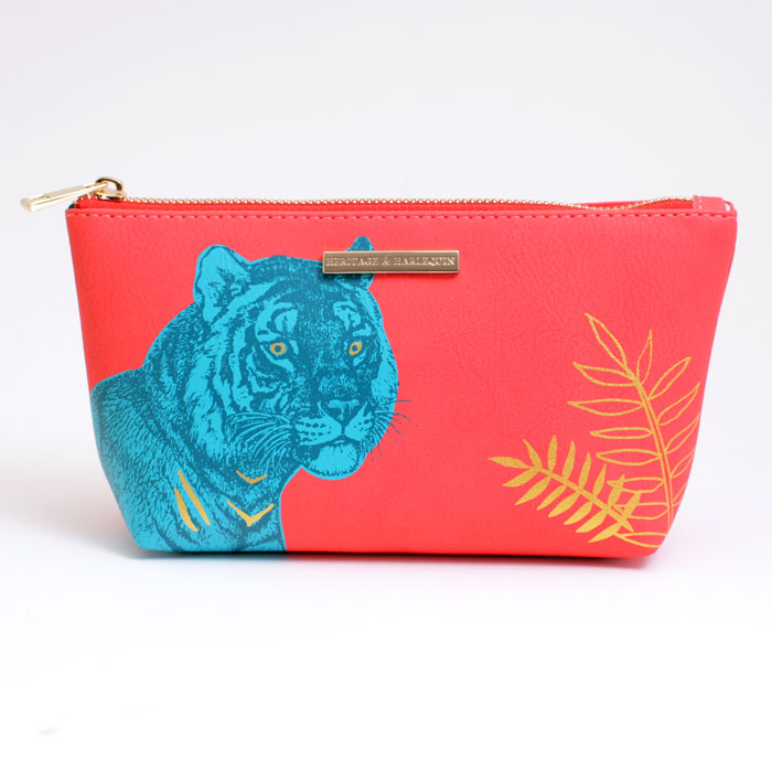 Faux Leather Tiger Make Up Bag - Buy Online UK