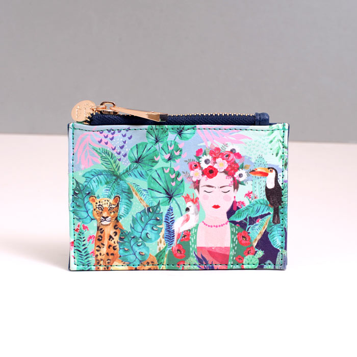 Zipped Coin and Card Holder - Frida Kahlo - Buy UK