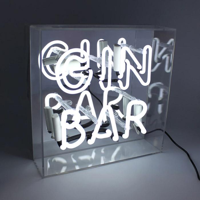 Neon Light Box Gin Bar - Buy Online UK