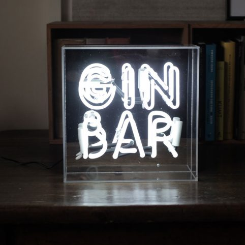 Gin Bar Neon Light Box - Buy Online UK
