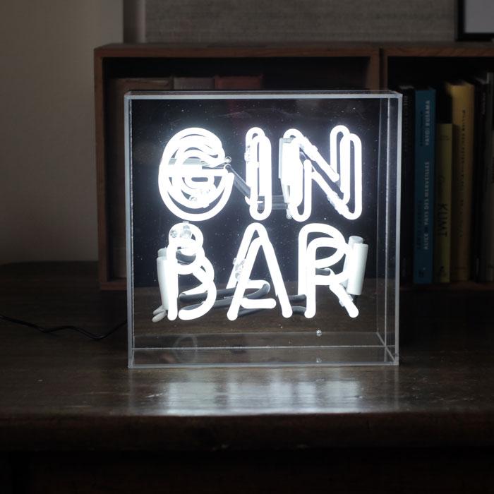 Gin Bar Neon Light Box - Buy Online UK