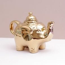 Gold China Teapot - Elephant Buy Online UK