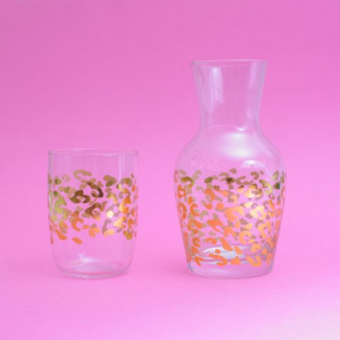 Leopard Glass Mug And Caraffe - Buy Online UK