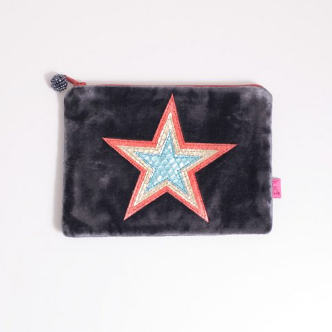 Star Velvet Purse from Lua - Buy online uK