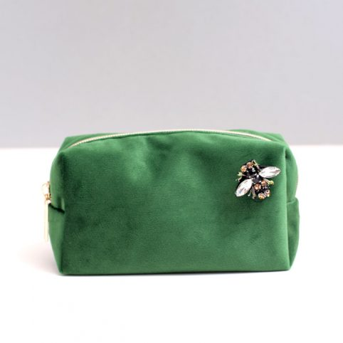 Green Velvet Make Up Bag Sixton - Buy Online UK